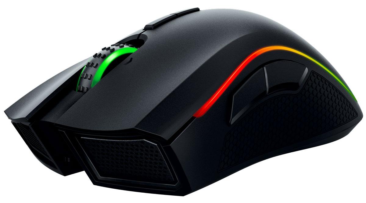 Razer Mamba Chroma игровая мышьRZ01-01360100-R3G1Благодаря самому точному в миру сенсору для игровой мыши с разрешением 16 000 dpi мышь Razer Mamba Chroma обеспечивает непревзойденную точность, увеличивая ваши игровые преимущества над соперниками. А благодаря способности отслеживать перемещение мыши в 1 dpi и высоту отрыва с точностью до 0,1 мм мышь Razer Mamba Chroma помогает вам моментально реагировать на любую ситуацию на пути к победе.Вы можете выбрать быстрые щелчки, имитирующие интенсивную стрельбу, или более внушительные и четкие щелчки, так как мышь Razer Mamba оснащена сверхчувствительными кнопками с регулируемым механизмом силы нажатия, который вы можете отрегулировать согласно своим предпочтениям. Выберите один из нескольких уровней силы срабатывания, чтобы установить чувствительность щелчка, подходящую именно вам: высокую для контролируемой снайперской стрельбы или низкую для быстрой стрельбы во время интенсивных схваток в MOBA.Благодаря передовой двойной проводной/беспроводной технологии игрового класса, мышь Razer Mamba Chroma предоставляет вам неограниченную свободу движения, но не в ущерб контролю или точности. Как в проводном, так и в беспроводном режиме мышь Razer Mamba Chroma поддерживает время отклика в 1 мс, позволяя вам наслаждаться максимальной эффективностью с практически нулевой задержкой. Более того, вы можете продолжать пользоваться мышью Razer Mamba Chroma, пока она заряжается, так что вам не придется прерывать игру даже во время самых длинных турниров.Все зависит от вашего настроения: электрический синий, пастельный розовый или фирменный зеленый Razer — вы сами выбираете цвет своей мыши Razer Mamba Chroma, который подсвечивает колесика и боковые линии. Все настройки легко выполняются в Razer Synapse, и ваша любимая мышь становится индивидуально вашей. Вы можете не только выбирать различные цветовые эффекты подсветки, но и настраивать синхронизацию цветовых эффектов с другими устройствами Razer.Скорость перемещения мыши до 210 дюймов в се