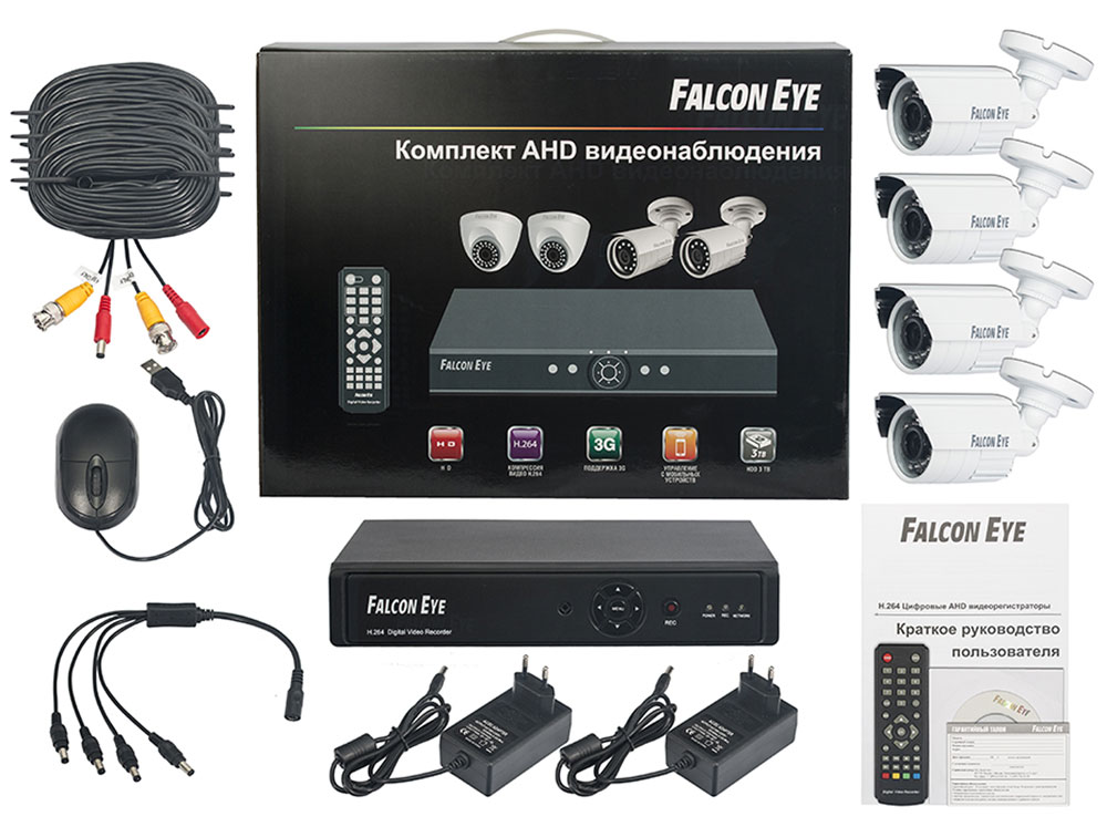 Falcon Eye FE-104AHD Kit Дача комплект видеонаблюдения - Системы видеонаблюдения