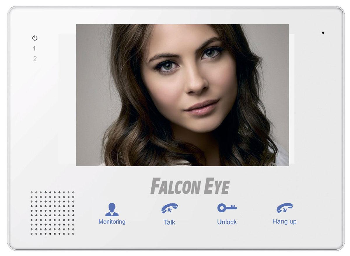 Falcon Eye FE-IP70M видеодомофонFE-IP70MFalcon Eye FE-IP70M объединяет в себе все необходимые современному видеодомофону функции: возможность подключения 2-х вызывных панелей, подключение к сети Интернет, и поддержка карт памяти до 32 ГБ. Функция записи фото и видео, дает возможность не только слышать и видеть того, кто стоит за дверью, но и записывать информацию о посетителях на карту SD, а также просматривать удаленно через Интернет. Переадресация видео звонков на мобильные устройства позволяет не только поговорить с посетителем, но и открыть дверь. Технология P2P существенно упростит подключение к монитору с мобильных устройств, достаточно установить приложение на свой смартфон на iOS или Android (программа в комплекте), сфотографировать QR на задней крышке монитора и уже можно подключаться для просмотра обстановки за вашей дверью.
