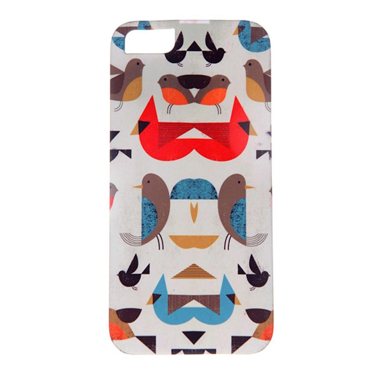 Mitya Veselkov Птички-невелички чехол для Apple iPhone 5/5sIP5.МITYA-014Превосходный чехол Mitya Veselkov Птички-невелички для Apple iPhone 5 - для любителей заметных аксессуаров. Накладка придаст вашему телефону индивидуальность и послужит прекрасной защитой от ударов и царапин. Чехол также обеспечивает свободный доступ ко всем разъемам и клавишам устройства.