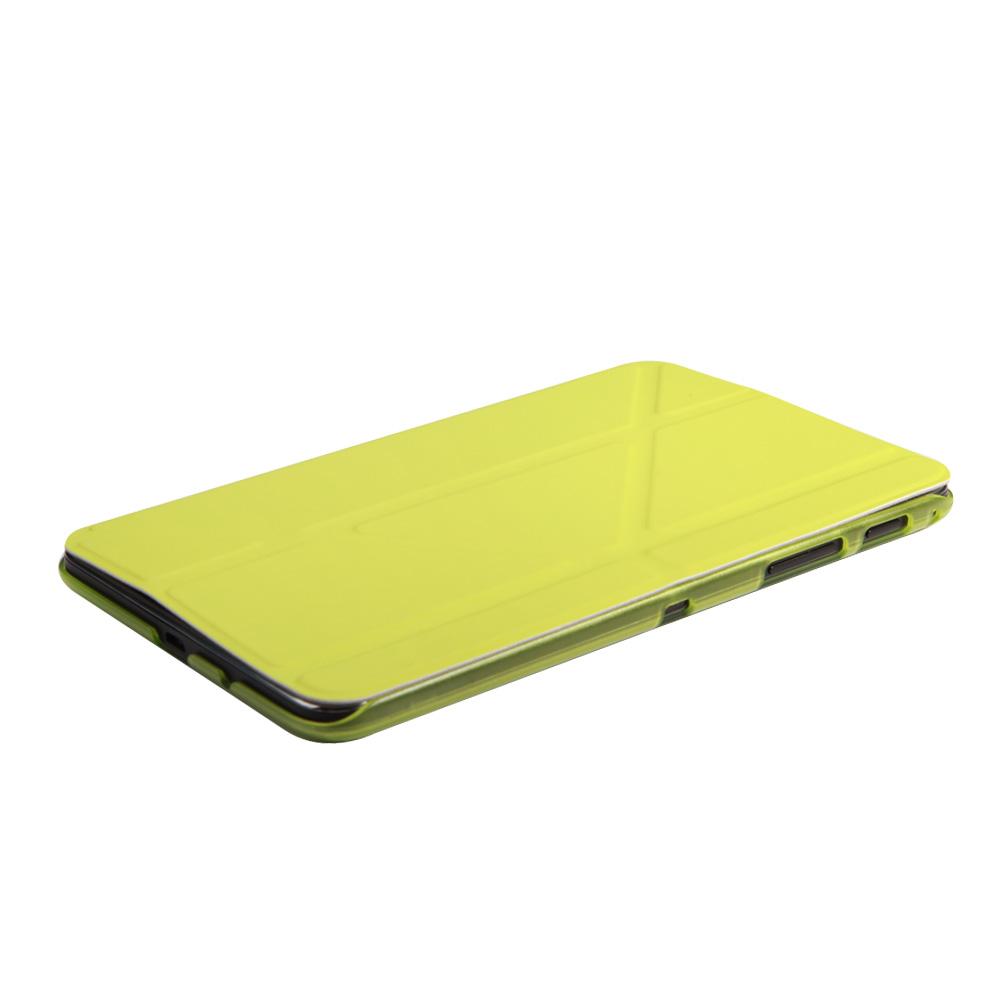 IT Baggage Hard Case чехол для Samsung Galaxy Tab A 7.0 SM-T285/SM-T280, LimeITSSGTA7005-5Чехол IT Baggage - надежный защитник вашего планшета, ведь теперь ему не страшны царапины, потертости и даже последствия небольших падений. Удобный чехол из высококачественной искусственной кожи трансформируется в подставку для более удобного просмотра, например, видео, а его конструкция позволяет получить доступ ко всем разъемам и камере.