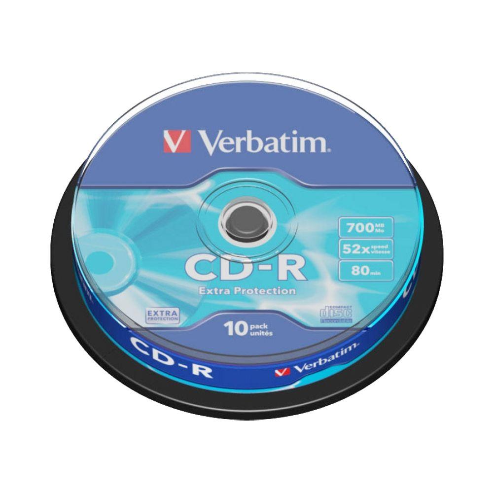 Verbatim CD-R 700MB 52x лазерный диск, 10 шт (Сake)43437