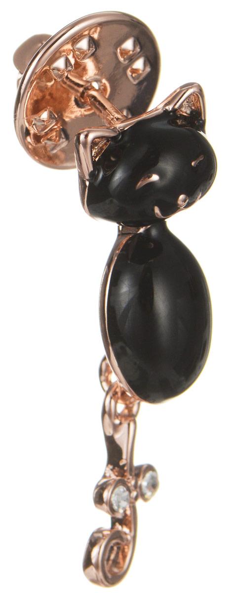 Брошь Art-Silver, цвет: серебристый, черный. 011421-002-302Брошь-иглаЭффектная брошь Art-Silver, выполнена в виде очаровательного кота из бижутерного сплава с эмалиевым покрытием и оформлена стразами. Брошь крепится с помощью иголки с замочком. Такая брошь позволит вам с легкостью воплотить самую смелую фантазию и создать собственный, неповторимый образ.