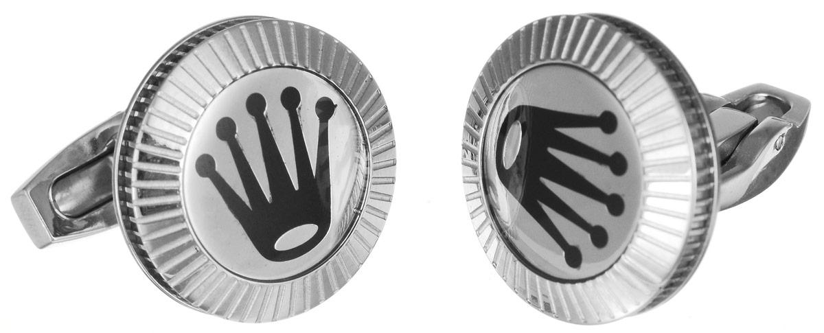 Запонки Art-Silver, цвет: серебристый, черный. К009-602Запонки асимметричныеСтильные запонки Art-Silver, изготовленные из высококачественной стали в оригинальном стиле, непременно станут объектом внимания и подчеркнут ваш изысканный вкус.Запонки - символ мужской элегантности. Они являются неотъемлемой частью вечернего туалета.Мужские запонки великолепного дизайна будут отличным подарком для каждого.