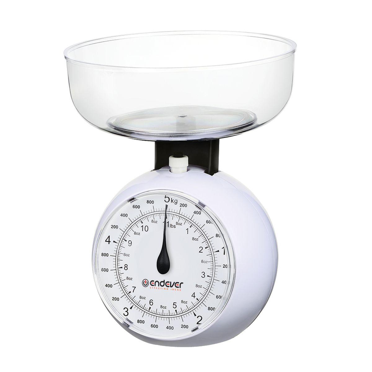 Endever KS-517 весы кухонныеKS-517Кухонные механические весы Endever KS-517 - незаменимые помощники современной хозяйки. Они помогут точно взвесить любые продукты и ингредиенты. Кроме того, позволят людям, соблюдающим диету, контролировать количество съедаемой пищи и размеры порций. Удобная чаша позволяет взвешивать сыпучие продукты.