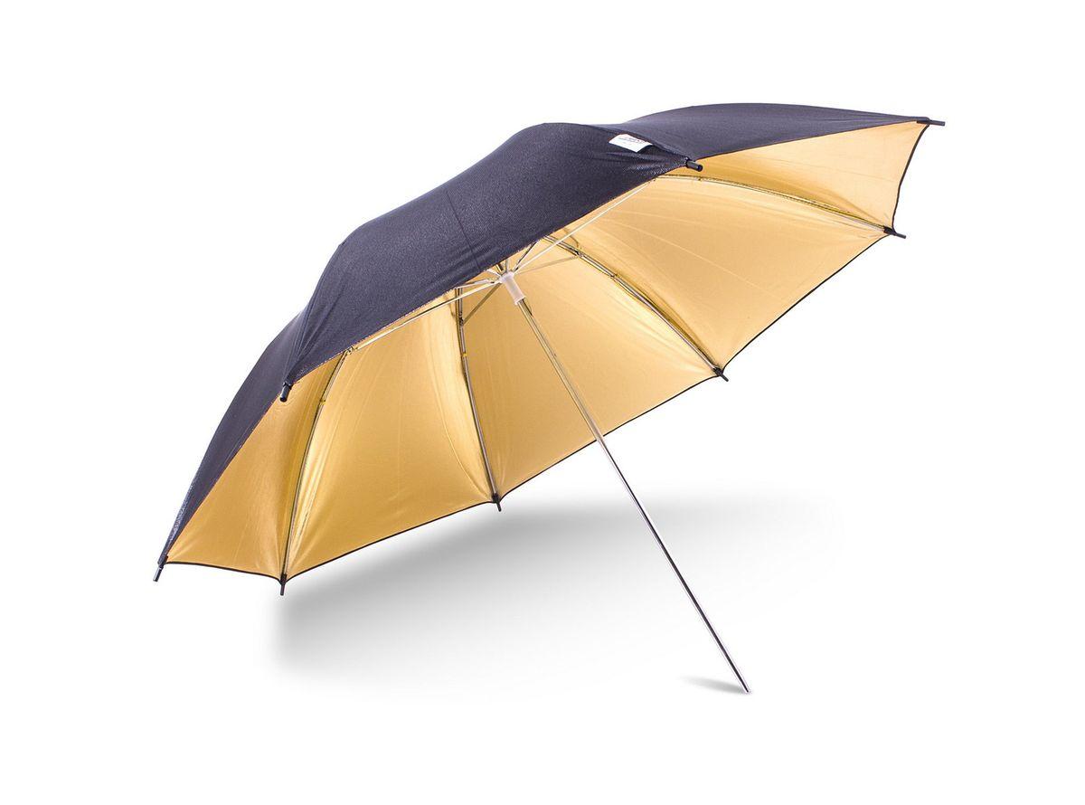 Ditech UB40BG, Black Gold зонт для фотосъемкиUB40BGЗонт Ditech UB40BG понадобится для тех случаев если вы хотите придать снимкам великолепный золотистый теплый оттенок. Отраженный от зонта свет, в зависимости от поставленных задач, может служить как рисующим, так и заполняющим. Диаметр: 40 дюймов.