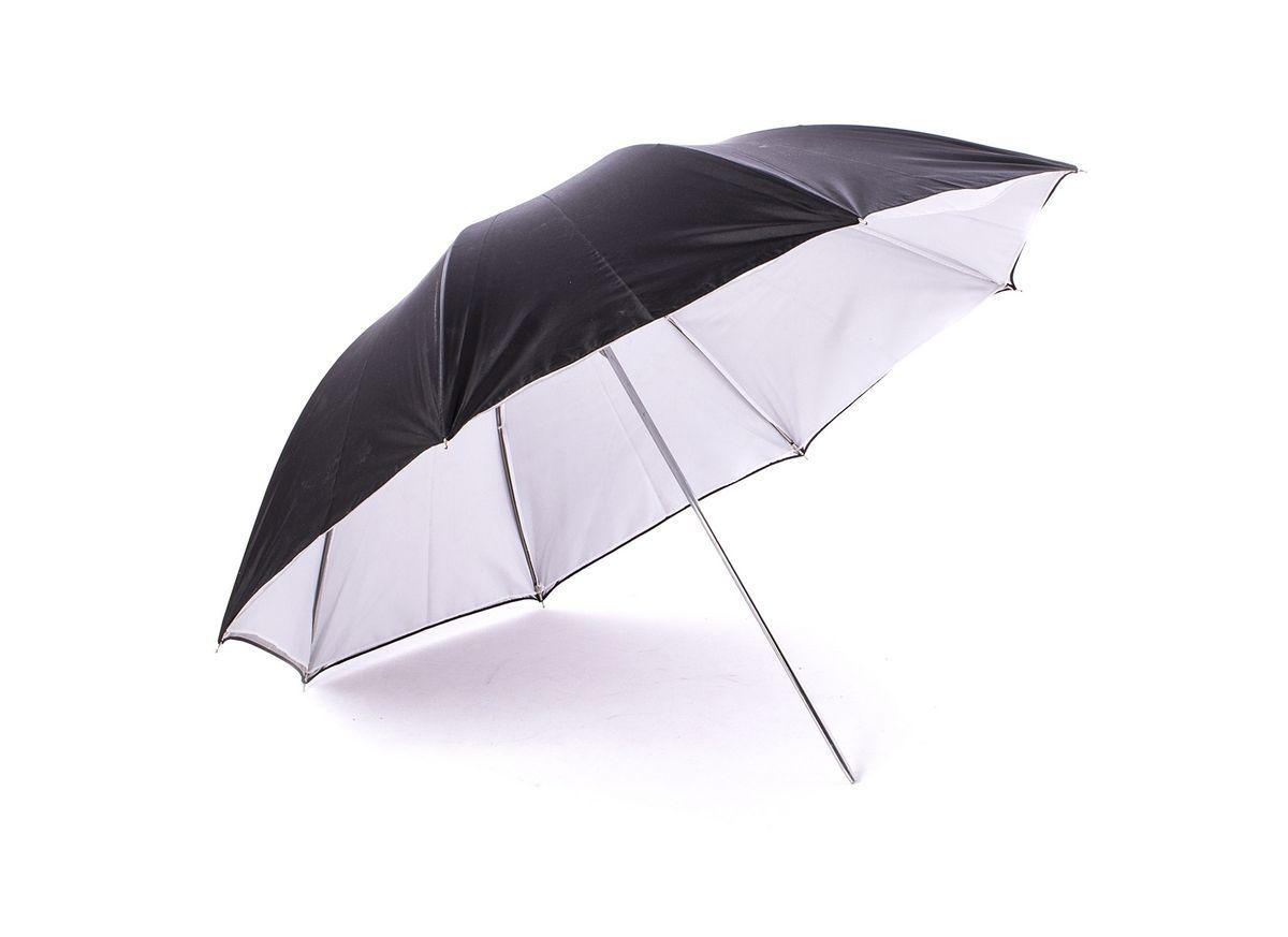 Ditech UB33WBS, White Black Silver зонт на отражение для фотосъемки двойнойUB33WBSВнутренняя поверхность зонта имеет два слоя: серебристый отражающий и белый рассеивающий для мягкого, но уверенного светового потока.