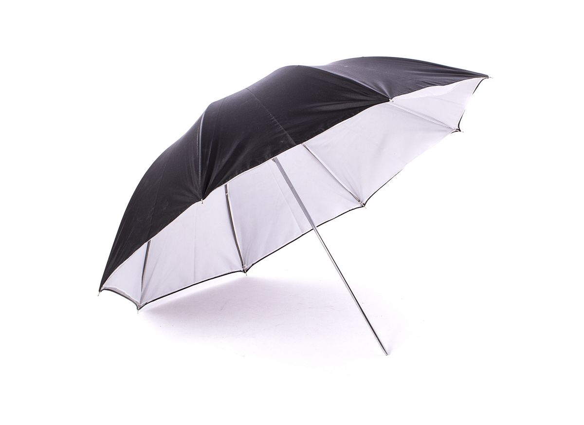 Ditech UB40WBS, White Black Silver зонт на отражение для фотосъемки двойной