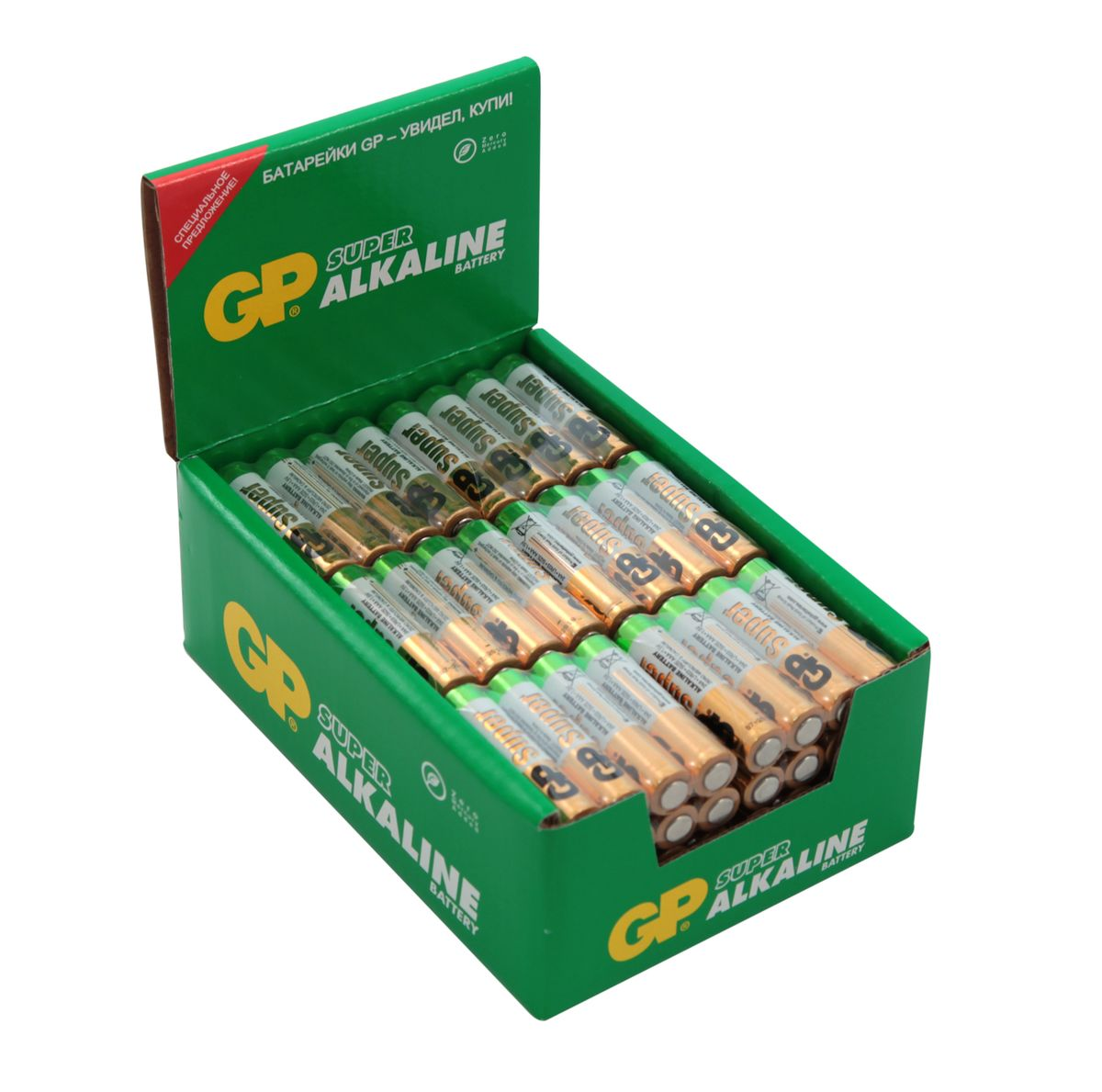 Батарейка алкалиновая GP Batteries  Super Alkaline , тип ААА, 96 шт - Батарейки и аккумуляторы
