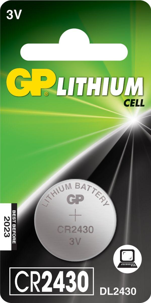 Батарейка литиевая GP Batteries, тип СR2430, 3В, 1 шт8237Литиевые элементы питания GP показывают великолепный результат в профессиональных приборах, а также в устройствах с высоким потреблением энергии. Они идеальны для медицинских приборов и отлично работают в экстремальных погодных условиях. * Лучшее решение для профессиональных и медицинских приборов* На 40% легче обычных батареек* Демонстрируют превосходный результат при экстремальных погодных условиях (от -40°C до 60°C)* Встроенная система защиты* Длительный срок хранения (10 лет)