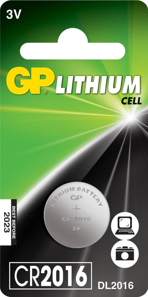 Батарейка литиевая GP Batteries, тип СR2016, 3В8502Литиевая батарейка GP Batteries типа СR2016 оптимально подходит для повседневного питания фонарей, фотоаппаратов, медицинских приборов, а также для профессиональной техники. Батарейка создана для устройств со средним и высоким потреблением энергии. Особенности: - на 40% легче обычных батареек;- демонстрирует превосходный результат при экстремальных погодных условиях (от -40°C до 60°C);- встроенная система защиты.