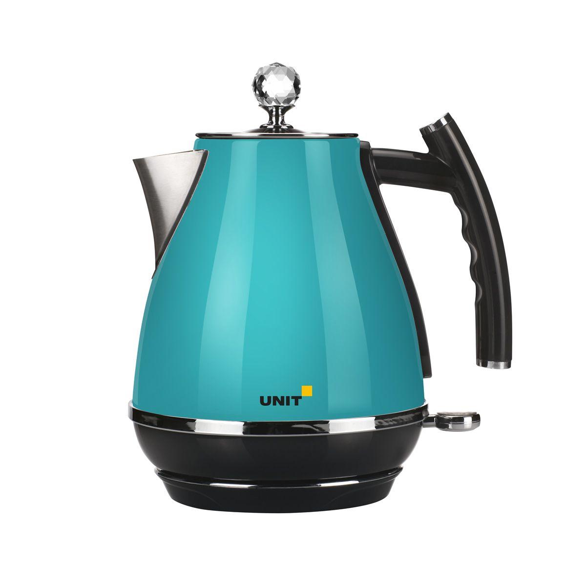 Unit UEK-263, Turquoise электрический чайникCE-0353953Электрический чайник Unit UEK-263 имеет стильный ретро-дизайн и три степени защиты:Защита от включения без водыАвтоматическое выключение при закипанииЗащита от перегреваСтильный металлический корпус безусловно впишется в любой кухонный интерьер. Съёмный фильтр от накипи задерживает даже ее мельчайшие частицы, а компактный сетевой шнур удобно прячется в подставку. Вращение на базе питания на 360° позволит вам удобно устанавливать прибор. Кнопка включения/выключения снабжена подсветкой и подскажет вам о работе прибора.