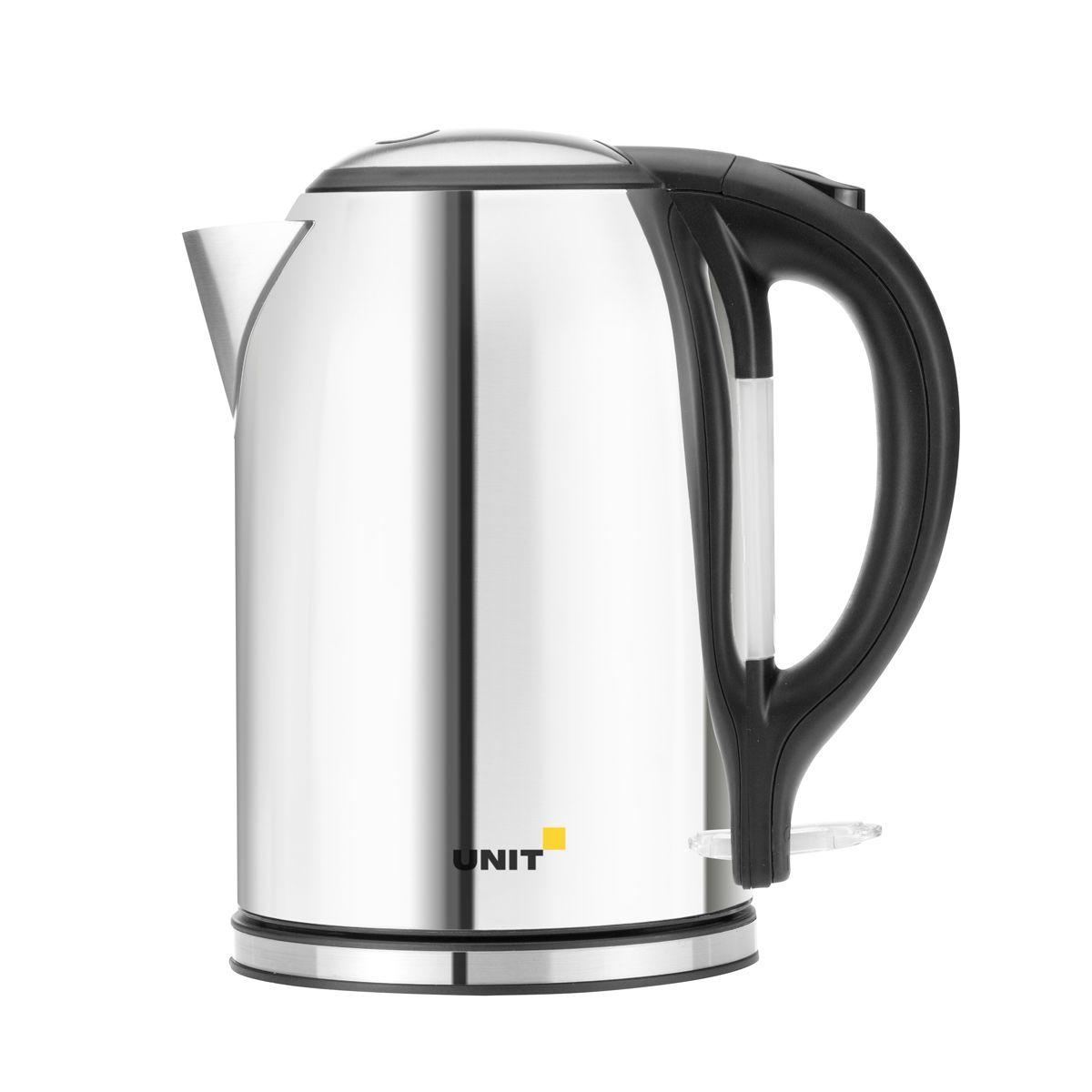 Unit UEK-266, Gloss электрический чайникCE-0350667Unit UEK-266 - это электрический со строгим дизайном и мощностью 2000 Вт. Корпус устройства выполнен из блестящей нержавеющей стали. Такой необычный кухонный прибор безусловно станет центром посиделок в кругу семьи.Стальной корпус чайника сохранит для вас полезные и вкусовые качества воды. Данная модель оснащена встроенным скрытым нагревательным элементом. Это снижает образование накипи и упрощает очистку, продлевая тем самым срок службы чайника. Новинка оснащена индикаторной лампочкой и отсеком для хранения шнура. Прибор вращается на круглой подставке - базе на 360 градусов, поэтому вы без труда сможете повернуть его в любую сторону.