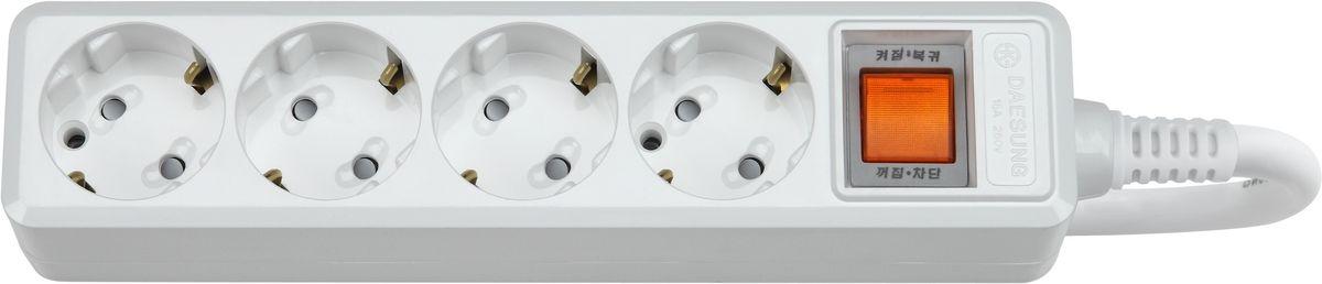 Сетевой фильтр Daesung, 4 гнезда, 5 м. MC2045MC2045Главный выключатель розеток (энергосбережение до 11%).Защита от импульсных скачков напряжения в сетиЗащита от перегреваЗащитные шторкиОтверстия для крепления на стену Корпус из поликарбоната (более ударопрочный, огнестойкий и экологичный материал)Антистатичная глянцевая поверхность (не маркий,не скапливается и легко удаляется пыль/грязь)Гибкий, мягкий кабель из чистой меди (тестируется на 10 000 изгибов)Направляющие канавки розеток (повышеный уровень комфортности при включении)контакты заземления из высококачественного сплава меди.5 лет гарантии(не ремонтируется), при поломке высылаете его Производителю (Представителю) и получаете взамен новый. Расходы по доставке производитель (Представитель) берёт на себя.При утере чека и гарантийного талона, датой отчета гарантийного срока является дата производства, которая указана на обратной стороне удлинителя/сетевого фильтра.