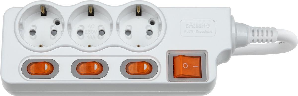 Сетевой фильтр Daesung, 3 гнезда, 5 м. MC2335MC2335Индивидуальный выключатель розетки (энергосбережение до 11%).Защита от импульсных скачков напряжения в сети и перенапряженияЗащита от перегреваЗащита от грозовых разядовЗащитные шторкиОтверстия для крепления на стену Корпус из поликарбоната (более ударопрочный, огнестойкий и экологичный материал)Антистатичная глянцевая поверхность (не маркий,не скапливается и легко удаляется пыль/грязь)Гибкий, мягкий кабель из чистой меди (тестируется на 10 000 изгибов)Направляющие канавки розеток (повышеный уровень комфортности при включении)контакты заземления из высококачественного сплава меди.5 лет гарантии(не ремонтируется), при поломке высылаете его Производителю (Представителю) и получаете взамен новый. Расходы по доставке производитель (Представитель) берёт на себя.При утере чека и гарантийного талона, датой отчета гарантийного срока является дата производства, которая указана на обратной стороне удлинителя/сетевого фильтра.