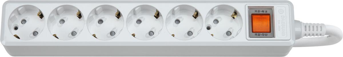 Сетевой фильтр Daesung, 6 гнезд, 3 м. MC2063MC2063-SPГлавный выключатель розеток (энергосбережение до 11%).Защита от импульсных скачков напряжения в сети и перенапряженияЗащита от перегреваЗащита от грозовых разядовЗащитные шторкиОтверстия для крепления на стену Корпус из поликарбоната (более ударопрочный, огнестойкий и экологичный материал)Антистатичная глянцевая поверхность (не маркий,не скапливается и легко удаляется пыль/грязь)Гибкий, мягкий кабель из чистой меди (тестируется на 10 000 изгибов)Направляющие канавки розеток (повышеный уровень комфортности при включении)контакты заземления из высококачественного сплава меди.5 лет гарантии(не ремонтируется), при поломке высылаете его Производителю (Представителю) и получаете взамен новый. Расходы по доставке производитель (Представитель) берёт на себя.При утере чека и гарантийного талона, датой отчета гарантийного срока является дата производства, которая указана на обратной стороне удлинителя/сетевого фильтра.