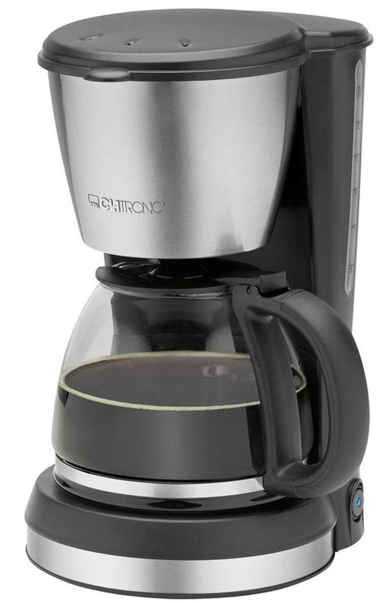 Clatronic KA 3562, Black Silver кофеваркаKA 3562 schwarz-inoxС помощью капельной кофеварки Clatronic KA 3562 вы сможете приготовить вкусный натуральный кофе. Кофеварка рассчитана на приготовление 12-14 чашек кофе (около 1,5 литра). Световой индикатор позволят отследить работу прибора. Подогреваемая подставка для колбы с автоматическим отключением.