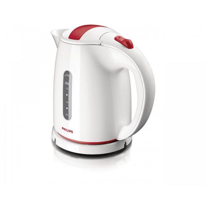 Philips HD 4646/40HD4646/40Катушка для удобного хранения шнураШнур оборачивается вокруг основания, что позволяет легко разместить чайник на кухне. Плоский нагревательный элемент для быстрого кипяченияВстроенный нагревательный элемент из нержавеющей стали обеспечивает быстрое кипячение и простую очистку. Четырехкомпонентная система безопасностиЧетырехкомпонентная система безопасности для предотвращения короткого замыкания и выкипания воды с функцией автовыключения после закипания воды или снятия с основания. Фильтр от накипи обеспечивает чистоту воды и чайника. Беспроводная подставка с поворотом на 360 ° для удобства использования. Широко открывающаяся откидная крышка для удобного наполнения и очистки исключает контакт с паром. Индикаторы уровня воды по обеим сторонам электрического чайника Philips будут удобны и для правшей, и для левшей. Наполнить чайник можно через носик, или открыв крышку.