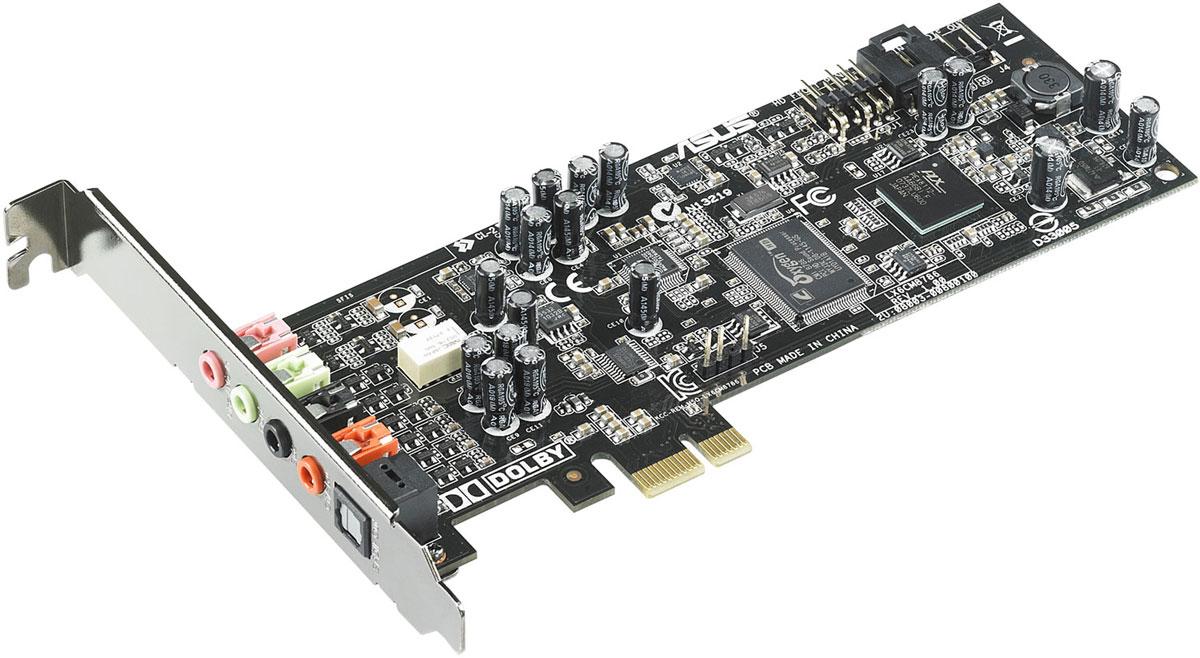 ASUS Xonar DGX звуковая картаXONAR DGXВ звуковой карте Xonar DGX реализован встроенный усилитель наушников, технология Dolby Headphone 5.1 и эксклюзивный обработчик аудиоэффектов GX 2.5. Все это обеспечивает четкое и детальное звучание с точным позиционированием источников звука в пространстве, что делает Xonar DGX идеальной картой для геймеров.Три режима усиления для различных приложений:Режим VoIP. Предназначен для голосового общения по сети.Геймерский режим. Улучшает пространственное позиционирование источников звука.Музыкальный режим. Обеспечивает более мощный бас и глубину звуковой сцены. Благодаря технологии Dolby Headphone звуковая карта Xonar DGX может создать эффект пространственного звучания при использовании обычных стереонаушников.Аудиопроцессор GX2.5 звуковой карты Xonar позволит вам услышать все оттенки звука в ваших любимых играх: как подкрадывается сзади враг или как эхом отражается каждый шаг в подземелье. Он полностью совместим с технологией EAX.Автоматическое переназначение аудиовыходовЗвуковая карта снабжена разъемом для аудио-портов передней панели корпуса компьютера. При подключении к ним каких-либо устройств, например наушников или микрофона, все аудиосигналы будут автоматически перенаправлены с задних разъемов звуковой карты на корпусные порты.Тип звука: 5.1Поддержка API: DirectSound, DirectSound 3D, EAX2.0, A3D, OpenAL, GX 2.5 ЦАП: 24 бит/96 кГцTHD+N 0.0025% (все выходы); 0.0022% (все входы)Частота дискретизации: 44.1 кГц, 48 кГц, 96 кГцОтношение сигнал/шум: 105 дБ (выходы), 103 дБ (входы)Чип: C-Media CMI8786Требования к системе: процессор Intel или AMD с частотой 1 ГГц, память от 256 МбПоддержка ОС: Windows 10, Windows 8.1, Windows 8, Windows 7, Windows Vista, Windows XPЭффекты: Xear 3D Virtual Speaker, Magic Voice, Smart Volume Normalizer, Magic Voice, Karaoke Functions(Music Key-Shifting, Microphone Echo effects), FlexBass, 10-полосный эквалайзер, 27 реверберационных эффектов