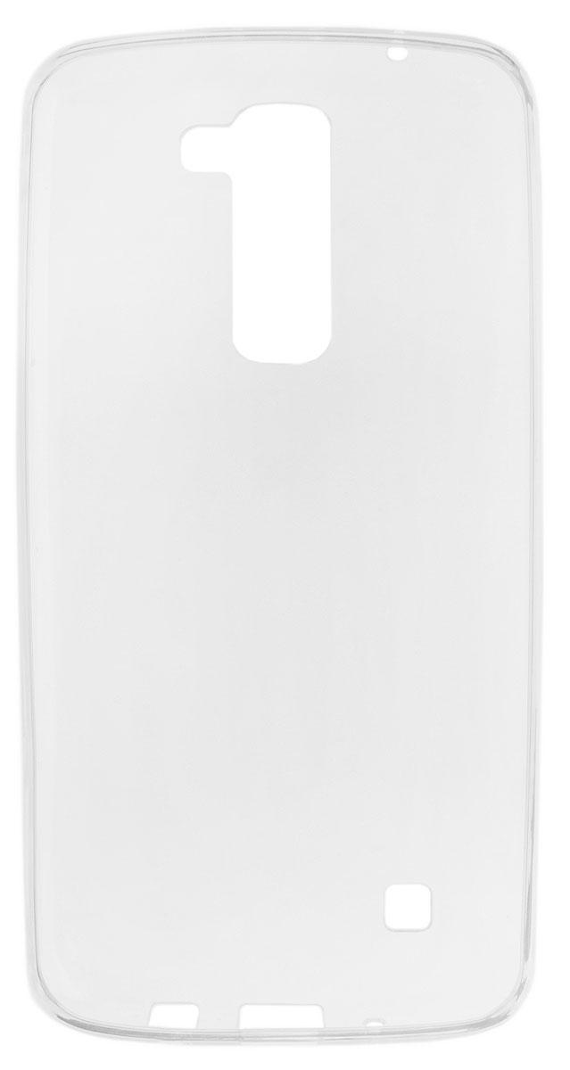 Red Line iBox Crystal чехол для LG K8, ClearУТ000008659Практичный и тонкий силиконовый чехол Red Line iBox Crystal для LG K8 защищает телефон от царапин, ударов и других повреждений. Чехол изготовлен из высококачественного материала, плотно облегает смартфон и имеет все необходимые технологические отверстия, соответствующие модели телефона.Силиконовый чехол iBox Crystal долгое время сохраняет свою первоначальную форму и не растягивается на смартфоне.