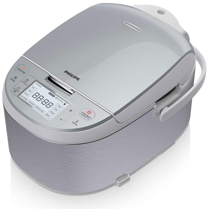 Philips HD3095/03 мультиваркаHD3095/03Мультиварка премиум-класса оснащена 10 автоматическими режимами и программами с возможностью регулировки температуры, с помощью которых вы сможете легко приготовить разнообразные блюда. Специальная толстостенная внутренняя чаша с нано-керамическим покрытием придаст вашим блюдам незабываемый вкус, словно они приготовлены в русской печи.10 автоматических программ:10 автоматических программ с оптимальными настройками температуры и нагрева для отличных результатов. Благодаря особой компьютерной программе блюда приобретают такой вкус, словно вы приготовили их на настоящей русской печи. Специальная программа с 13 установками температуры от 40°C до 160°C на выбор. Таймер отсрочки старта до 24 часов:Функция поддержания тепла обеспечивает свежесть блюд в течение 24 часов. Специальная кнопка позволяет без труда подогреть остывшие блюда. Ультратолстая 6 мм чаша:Ультратолстая 6 мм чаша позволяет распределять тепло таким образом, чтобы весь нагрев передавался блюду максимально равномерно. Пироги получаются пропеченными и воздушными, как из русской печи.Удобные аксессуары: мерная чашка, половник, ложка, чаша для приготовления на пару и книга с 40 рецептами.Водонепроницаемый прочный дисплей.