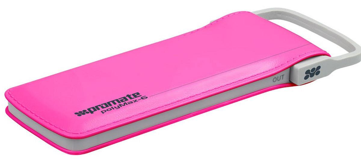 Promate PolyMax-6, Pink внешний аккумулятор6959144020563Исключительный по техническим характеристикам и внешнему виду портативный аккумулятор Promate PolyMax-6. Отделка под кожу, встроенный кабель с выходом в 2,4 А, ультратонкий дизайн (менее 1,5 см толщины) и реальная заявленная емкость делает его оптимальным выбором для любого пользователя. 2 полноценные зарядки любого сматфона, адекватно высокая скорость зарядки (около 1,5 часа), а также возможность заряжать планшет вкупе со стильным дизайном - все это моментально привлекает внимание к этому действительно уникальному гаджету.