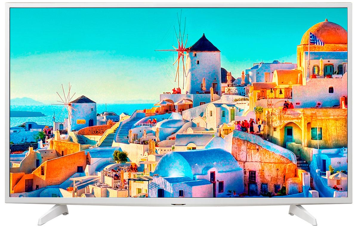 LG 49UH619V телевизор49UH619VСовременный телевизор LG 49UH619V для всей семьи.HDR Pro:Функция HDR Pro позволяет увидеть фильмы с теми яркостью, богатейшей палитрой и точностью цветовых оттенков, с какими они были сняты.Трёхмерная обработка цвета:В новых UHD телевизорах LG используется трёхмерный алгоритм обработки цвета, что позволяет минимизировать искажения и добиться оттенков, максимально приближенных к натуральным.Энергосбережение:Эта функция включает в себя контроль подсветки, который позволяет регулировать яркость экрана в целях экономии электроэнергии.Металлический дизайн:Оцените обновлённый дизайн корпуса телевизорас металлическими элементами.ULTRA Surround:Специальный алгоритм преобразовывает звуковые волны, исходящие из двухканальных динамиков так, что вам будет казаться, что вы слушаете 7-канальный звук. Получите ещё больше удовольствия от просмотра 4К фильмов!webOS 3.0:Обновлённая операционная система LG SMART TV на базе webOS 3.0 создана для того, чтобы доступ к фильмам, сериалам, музыке и интернет-порталам через телевизор был простым и удобным.