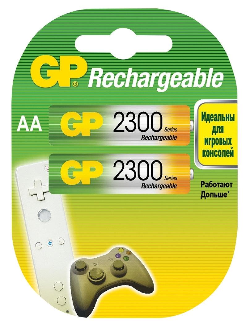 Аккумулятор GP 230AAHC AA NiMH 2250 мАч, 2 штGP 230AAHC-2DECRC2Аккумуляторные батареи типа AA широко применяемые во множестве устройств, от пультов ДУ и фонарей, до игрушек и фотоаппаратуры.