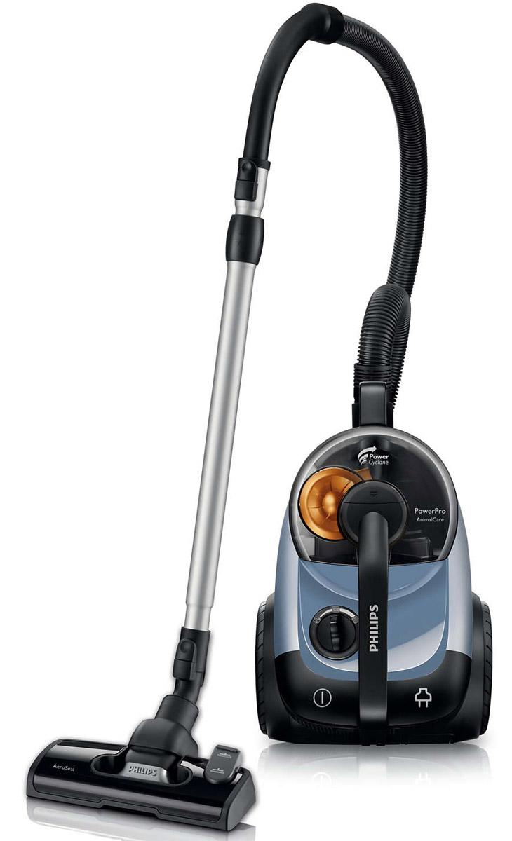 Philips FC8767/02 пылесосFC8767/02Новый пылесос Philips FC8767/02 собирает больше пыли за один подход, что значительно ускоряет процесс уборки, а значит, вы сможете уделять больше времени любимым занятиям. Технология PowerCyclone отделяет пыль от чистого воздухаТехнология PowerCyclone обеспечивает идеальные результаты уборки в три этапа: 1) Поток воздуха с частичками пыли и грязи поступает в камеру PowerCyclone; 2) быстрая циркуляция воздуха обеспечивает эффективное оседание частичек пыли в циклонической камере; 3) воздух выходит из камеры через лопасти, которые эффективно отделяют пыль от воздуха. Мощный мотор 2100 Вт для идеальных результатов уборкиМотор мощностью 2100 Вт обеспечивает силу всасывания 370 Вт для идеальных результатов уборки. Усовершенствованная конструкция пылесборника обеспечивает легкость его очисткиСпециальная конструкция контейнера для сбора пыли во время его очистки не дает образовываться облаку пыли. Благодаря его особой конструкции и сглаженным краям вся собранная пыль скапливается на одной стороне контейнера и плавно сбрасывается в мусорное ведро. Насадка AeroSeal собирает больше пыли и шерсти за один подходБлагодаря особой конструкции насадка AeroSeal собирает больше пыли за один подход. Она аккуратно приподнимает ворc ковра, чтобы собрать пыль даже с его самых глубоких слоев. Благодаря плотному прилеганию щетки к поверхности вся пыль мощным потоком воздуха засасывается в циклонную камеру. Уборка большей площади с меньшими усилиямиРадиус действия 10 м упрощает процесс уборки.