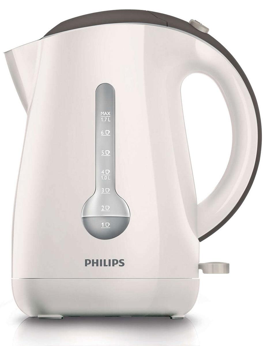 Philips HD4677/50 электрочайникHD4677/50Уникальный индикатор на 1 чашку позволяет вскипятить в этом стильном чайнике Philips HD4677/50 ровно столько воды, сколько вам нужно, что поможет сэкономить до 66% энергии и снизить негативное влияние на окружающую среду. Беспроводная подставка с поворотом на 360° для удобства использования. Катушка для удобного хранения шнураШнур оборачивается вокруг основания, что позволяет легко разместить чайник на кухне. Индикатор воды по чашкам позволяет вскипятить столько воды, сколько нужноЕсли вы кипятите ровно столько воды, сколько нужно, вы экономите до 66% энергии и воды, внося свой вклад в защиту окружающей среды. Широко открывающаяся откидная крышка для удобства наполнения и чистки чайникаШироко открывающаяся откидная крышка для удобства наполнения и чистки чайника исключает контакт с паром. Плоский нагревательный элемент для быстрого кипячения воды и легкой чисткиВстроенный нагревательный элемент из нержавеющей стали этого чайника Philips обеспечивает быстрое кипячение и простую очистку. Двойной фильтр от накипи для чистой воды и чистого чайника. Звуковой сигнал извещает о закипании водыПри закипании воды раздается звуковой сигнал. Комплексная система безопасностиКомплексная система безопасности для предотвращения короткого замыкания и выкипания воды. Функция автовыключения активируется, когда процесс завершается или прибор снимается с основания. Когда чайник включен, загорается подсветкаЭлегантная подсветка кнопки включения/выключения уведомляет о процессе нагрева воды. Индикаторы уровня воды с двух сторон чайникаИндикаторы уровня воды по обеим сторонам электрического чайника Philips будут удобны и для правшей, и для левшей.
