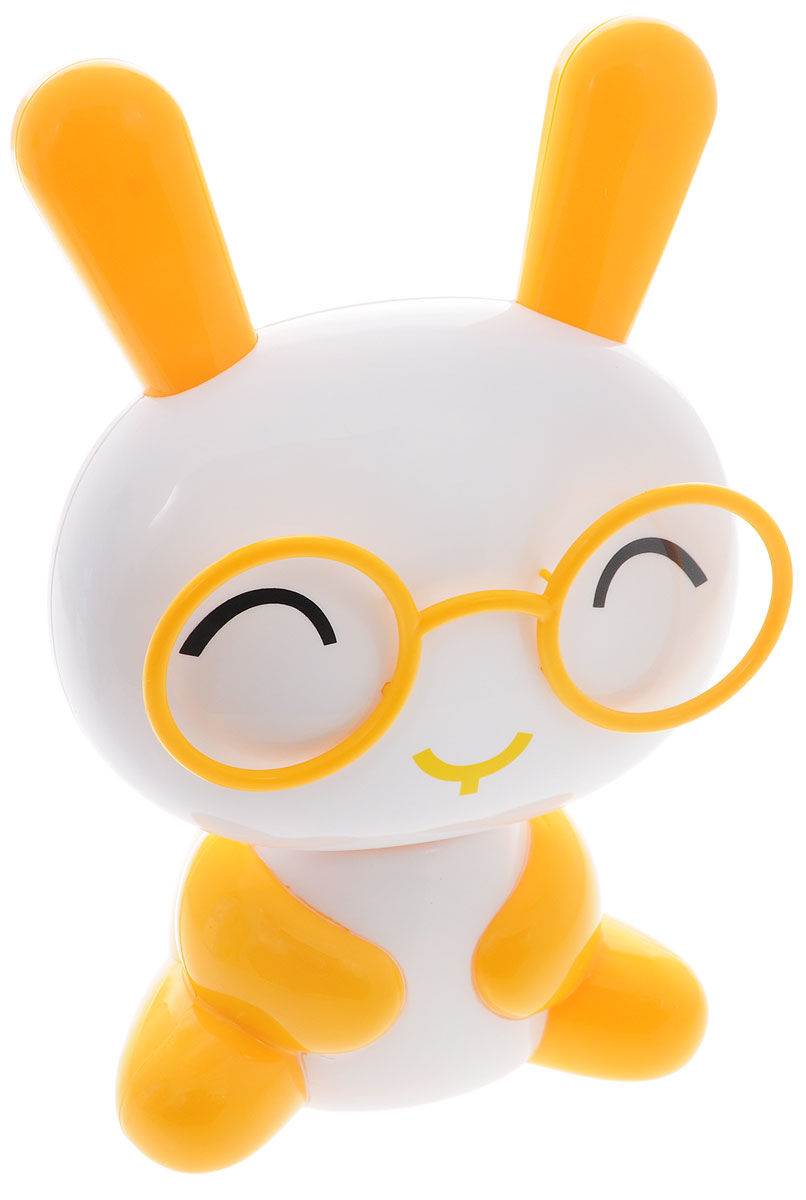 Sima-land Светильник Зайчонок в очках цвет желтый белый1111628_желтый, белыйСегодня особо ценятся уникальные креативные предметы интерьера, и светильник Sima-land Зайчонок в очках как раз из их числа. Светильник выполнен из качественного пластика в виде зайчика в очках. На тыльной поверхности головы зайчика расположены 16 светодиодов, которые включаются посредством кнопки на спине зайчика. 2 режима свечения: 8 светодиодов и 16 светодиодов. Голова зайчика поднимается на телескопической ножке и может наклоняться на 180°. Ваш малыш обрадуется такой интересной вещице, отлично вписывающейся в интерьер детской комнаты. Пусть этот милый забавный дружок будет и вашим верным помощником. Оставляйте свет включённым, если ребёнок боится засыпать в темноте, и будьте уверены, что тёплое освещение не помешает ему погрузиться в царство Морфея. Светильник работает от встроенного аккумулятора. Зарядка осуществляется от USB-порта (зарядное устройство в комплекте) или от сети (шнур питания приобретается отдельно).