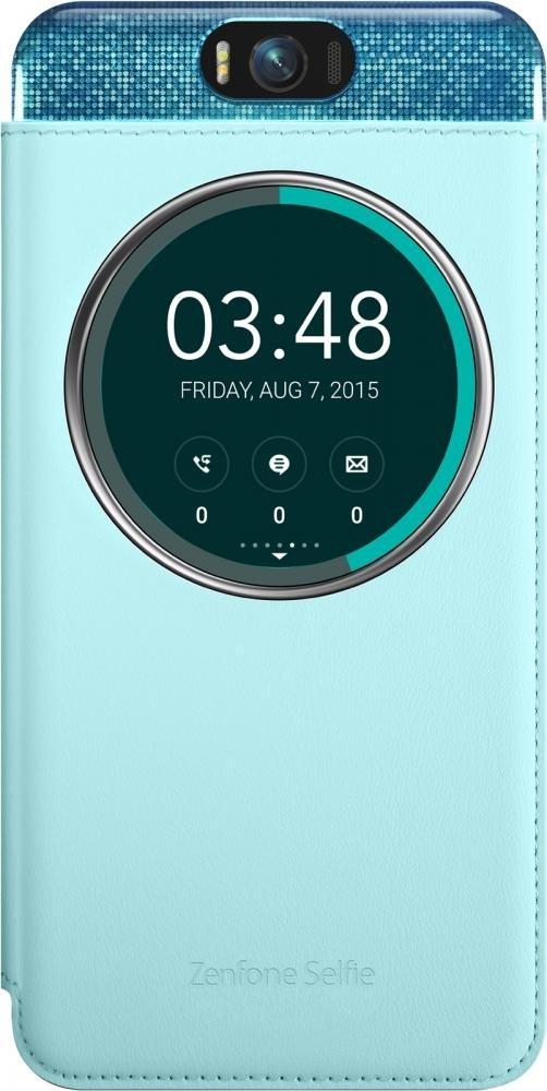 Чехол (флип-кейс) ASUS MyView Cover Deluxe для ZenFone Selfie ZD551KL, Light Blue90AC00X0-BCV004