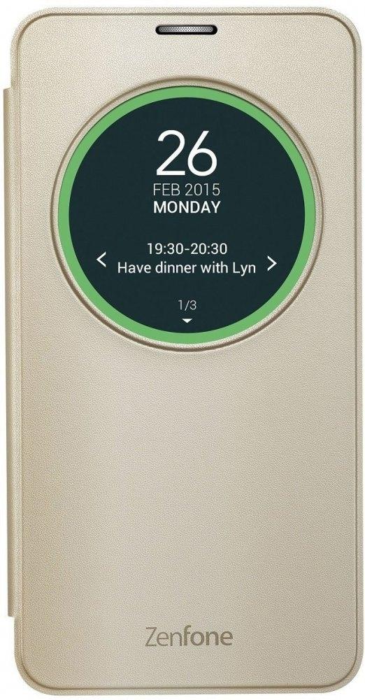 Чехол (флип-кейс) ASUS View Flip Cover для ZenFone Laser ZE600/601KL, Gold90AC00W0-BCV002