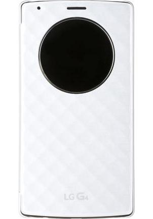 Чехол (флип-кейс) LG QuickCircle для G4 H818, White оригинальный чехол quickcircle для lg g3 s