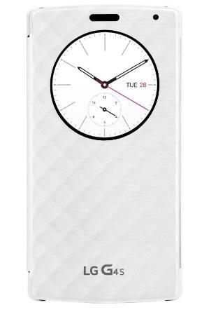 Чехол (флип-кейс) LG QuickCircle для G4s H736, WhiteCFV-110.AGRAWHНаличие умного чехла QuickCircle обеспечивает мгновенный доступ к часам, погоде, музыке, позволяет принять или отклонить вызов и даже вести съемку на камеру, не открывая чехла! А главное QuickCircle станет модным аксессуаром, выгодно подчеркивающим индивидуальность и стиль его владельца!