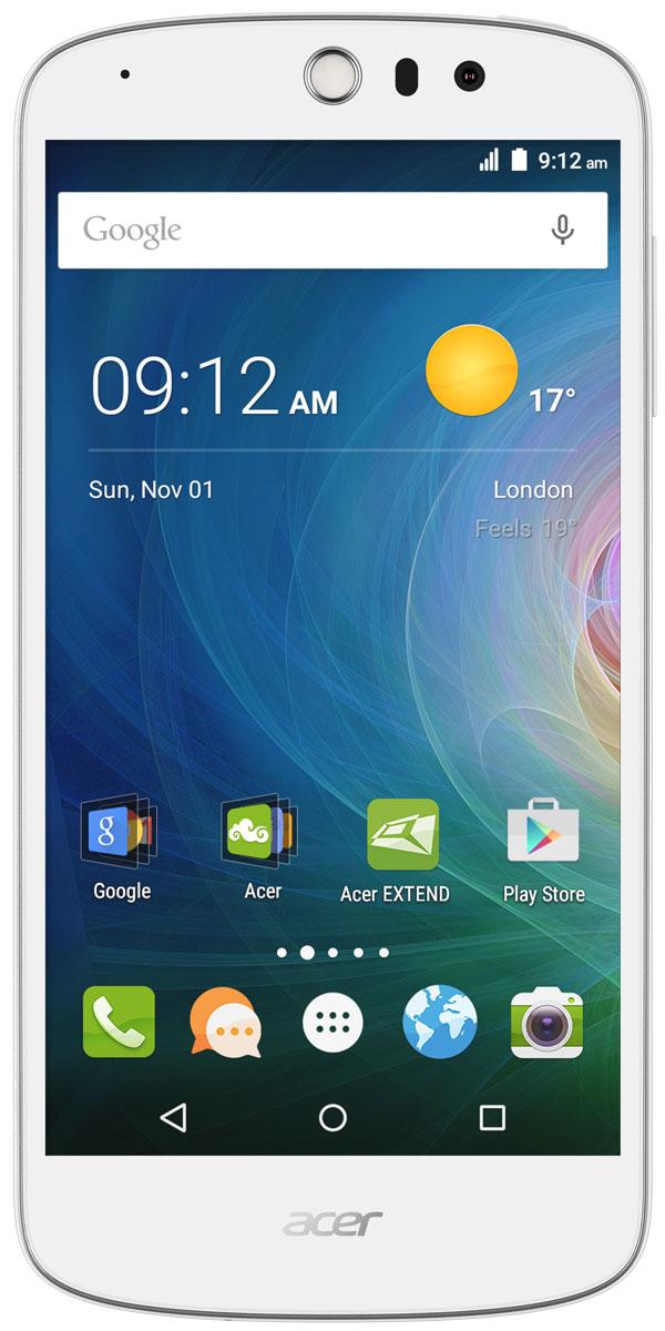 Acer Liquid Z530 8GB, WhiteHM.HQWEU.004Acer Liquid Z530 стильный и функциональный смартфон с реалистичной цветопередачей. Дисплей с разрешением HD, функции для создания ярких фото и набор жестов для доступа к приложениям с выключенного экрана добавят новых красок в вашу жизнь.Смартфон с помощью встроенных в камеру функций создает яркие и красочные фотографии. Благодаря технологиям IPS, Acer Lumiflex и конструкции Zero Air Gap экран с естественной цветопередачей, насыщенностью и контрастом вы получите яркие фотографии и поделитесь ими с друзьями.Камера смартфона Liquid Z530 с углом съемки 84 градуса, разрешением 8 Мпикс и дополнительными режимами съемки позволит создавать потрясающие селфи в кругу друзей или на фоне панорамы.Данная модель поддерживает жесты быстрого доступа, которые позволяют управлять некоторыми функциями, просто проведя пальцем по экрану. Например, открывается доступ к голосовому вызову, камерам, проигрывателю, а также элементам управления проигрывателем. Несколько касаний и все это у вас под рукой.Телефон сертифицирован EAC и имеет русифицированный интерфейс меню и Руководство пользователя.