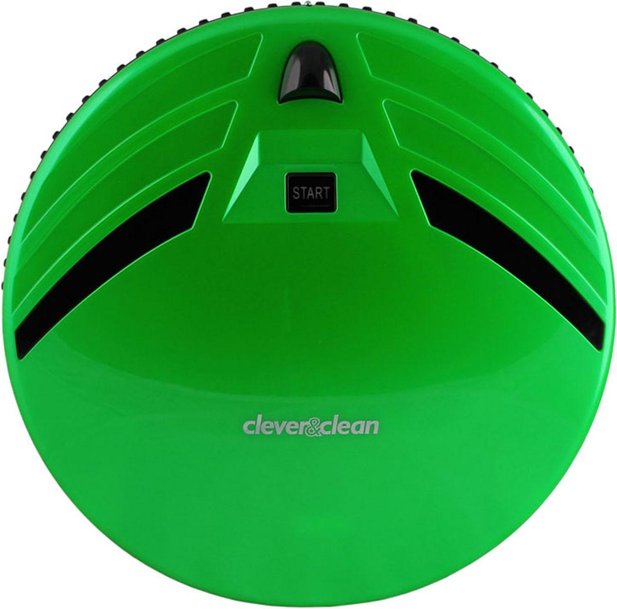Clever&Clean Z-Series Z10A, Green робот-пылесосZ10 GreenРобот-пылесос С&С Z10A, предназначен для сухой уборки напольных покрытий: плитки, ламината, паркета, ковров с коротким ворсом, а также влажной протирки твердых поверхностей.Передняя часть робота оснащена сенсорами предотвращающими столкновение с мебелью и другими предметами интерьера, а также 80-ю датчиками распознающими соприкосновение – это позволяет снизить уровень шума во время уборки помещения и минимизировать физический контакт робота с мебелью.Удобный пульт управления работает на радио частотах, что позволяет управлять роботом-пылесосом практически из любой части квартиры (сигнал проходит сквозь стены). Также пульт оснащен информативным ЖК дисплеем и предоставляет возможность производить ручное управление роботом-пылесосом для вывода его в любое место в квартире.