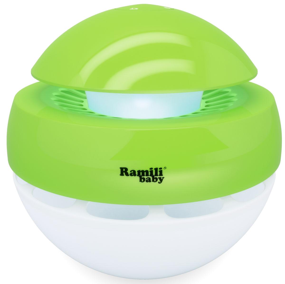 Ramili Увлажнитель воздуха ультразвуковой AH770AH770Ультразвуковой увлажнитель (без кипячения). Создаёт «Холодный туман» за секунды. Рассчитан для увлажнения комнаты до 30 квадратных метров (в закрытом помещении). Объём контейнера для воды – 1 литр.