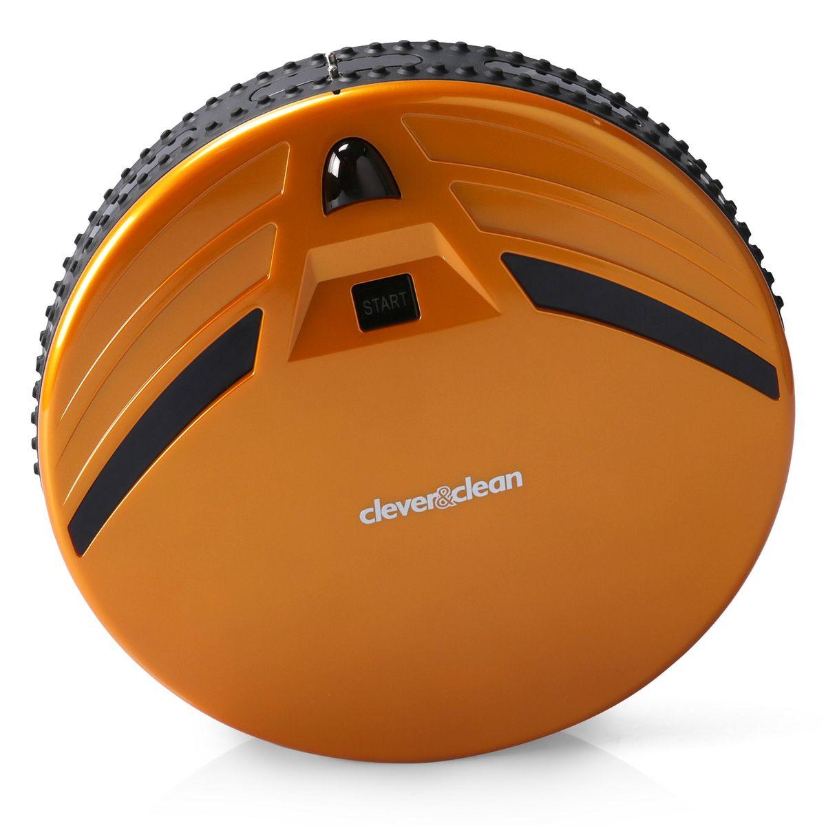 Clever&Clean Z-Series Z10A, Yellow робот-пылесосZ10AРобот-пылесос С&С Z10A, предназначен для сухой уборки напольных покрытий: плитки, ламината, паркета, ковров с коротким ворсом, а также влажной протирки твердых поверхностей.Передняя часть робота оснащена сенсорами предотвращающими столкновение с мебелью и другими предметами интерьера, а также 80-ю датчиками распознающими соприкосновение - это позволяет снизить уровень шума во время уборки помещения и минимизировать физический контакт робота с мебелью.Удобный пульт управления работает на радио частотах, что позволяет управлять роботом-пылесосом практически из любой части квартиры (сигнал проходит сквозь стены). Также пульт оснащен информативным ЖК дисплеем и предоставляет возможность производить ручное управление роботом-пылесосом для вывода его в любое место в квартире.