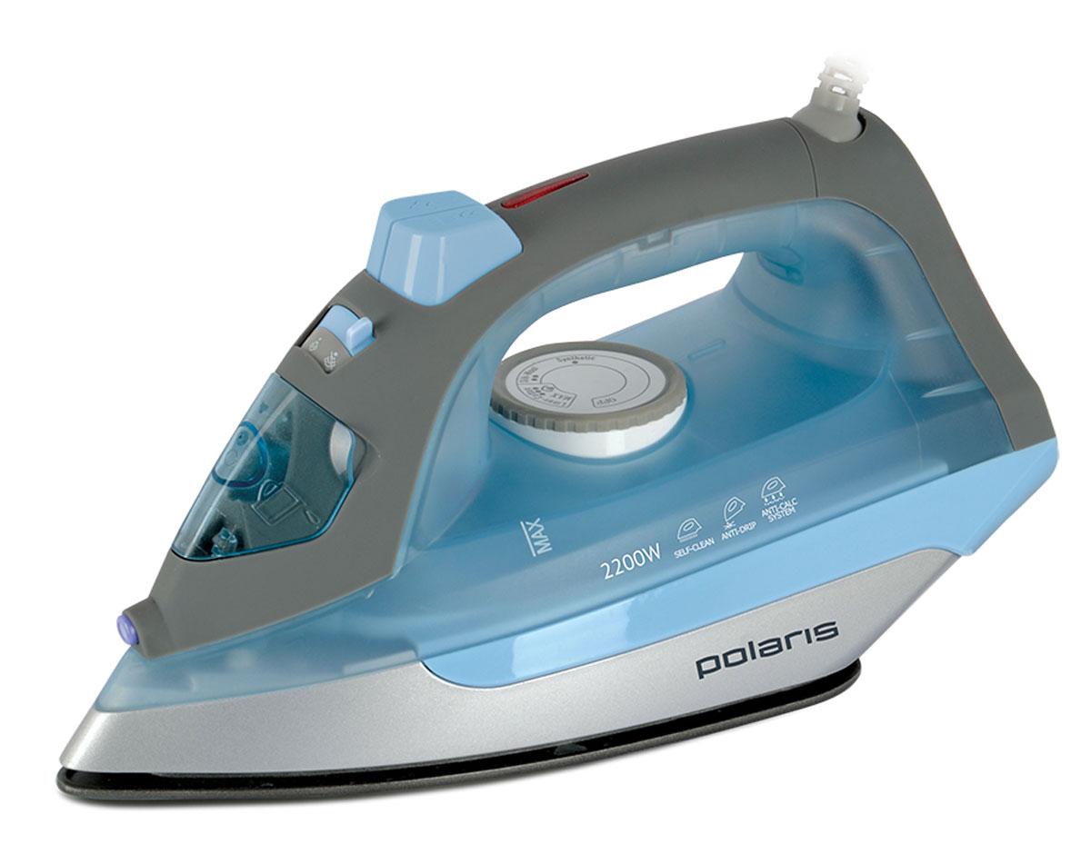 Polaris PIR 2263, Blue утюгPIR 2263_голубойУтюг Polaris PIR 2263 поможет добиться быстрой, эффективной и качественной глажки благодаря широкому набору функций. Его подошва великолепно скользит по любой ткани и устойчива к различным повреждениям. Быстрый нагрев прибора обеспечивает впечатляющая мощность – 2200 Вт. Утюг Polaris PIR 2263 оснащен функцией парового удара для разглаживания глубоких складок, грубых тканей и пересушенных вещей. Для работы с тонкими и деликатными тканями утюг имеет режим разбрызгивания. Шарнирное вращение шнура на 360° не перекручивается у основания и тем самым делает процесс глажки более удобным и комфортным.