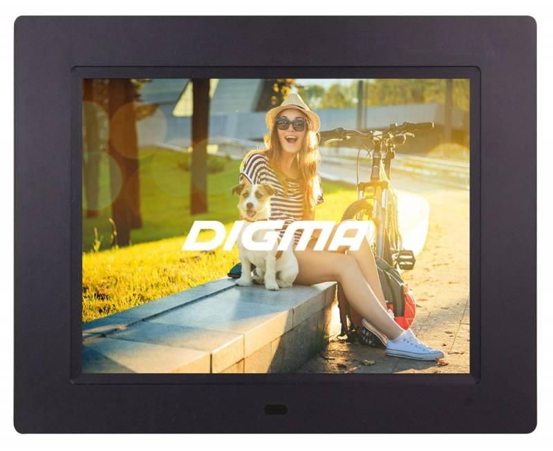 Цифровая фоторамка Digma PF-833, Black - Цифровые фоторамки