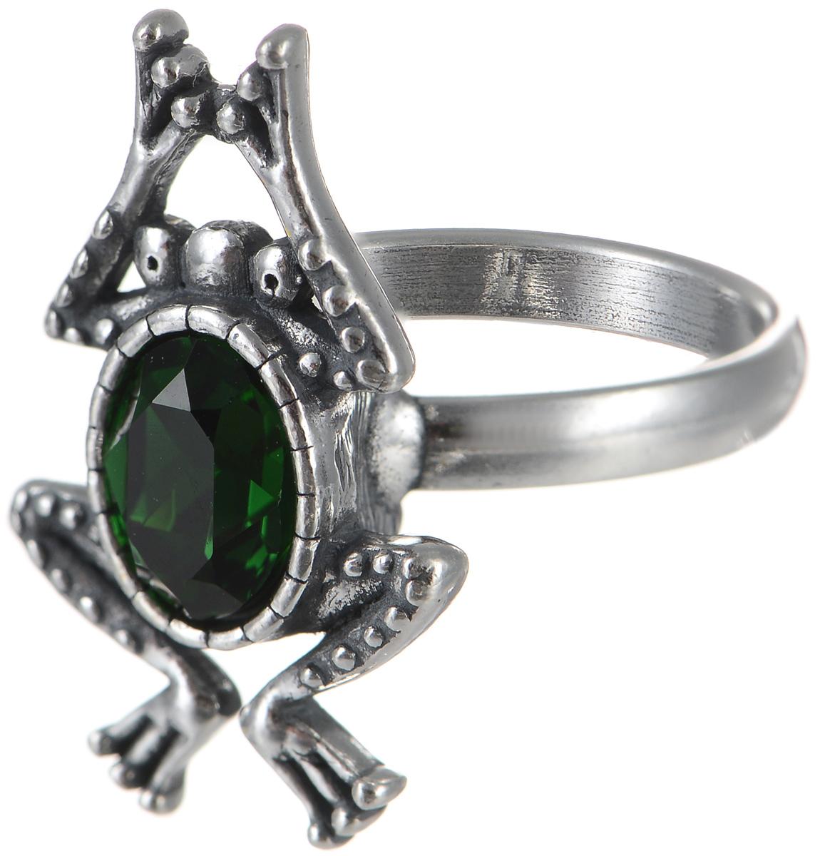 Кольцо Jenavi Пипин, цвет: серебристый, зеленый. k3363032. Размер 16Коктейльное кольцоОригинальное кольцо Jenavi Пипин из коллекции Кассида, выполненное из ювелирного сплава с покрытием из черненого серебра, оформлено декоративным элементом в виде лягушки, который инкрустирован кристаллом Swarovski.Красивое и необычное украшение блестяще подчеркнет ваш изысканный вкус и поможет внести разнообразие в привычный образ.