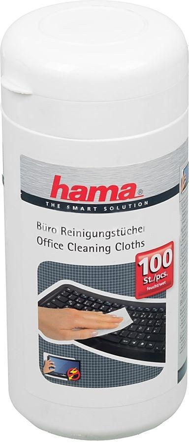 Салфетки чистящие универсальные Hama H-42210, 100 шт42210Влажные чистящие салфетки предназначены для очистки пластиковых и металлических поверхностей. Не предназначены для очистки мониторов.