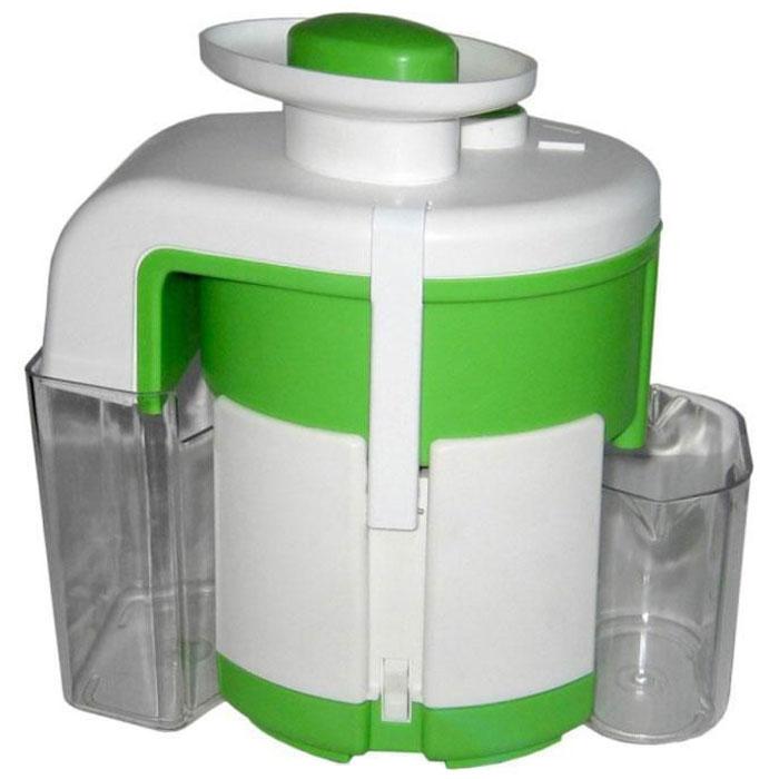 Журавинка СВСП 102 П, White Green соковыжималкаСК СВСП 102ПЖуравинка СВСП 102 П - персональная соковыжималка с ручным сбросом жмыха, который позволяет выжать весь сок до последней капли. Неограниченное время работы дает возможность отжимать любое количество сока за один раз. Простая сборка и уход. В данной ценовой категории модель находится вне конкуренции. Достаточно высокая производительность позволяет применять соковыжималку при сезонной заготовке сока, а сравнительно небольшие габариты и масса делают ее удобной и при ежедневном использовании.Производительность: 550 г/мин