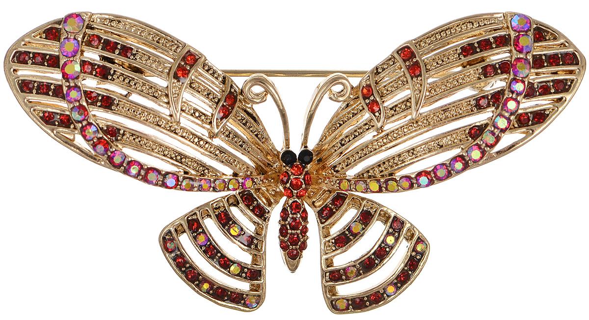 Брошь Selena Street Fashion, цвет: золотистый. 30026800Брошь-булавкаРоскошная брошь Selena Street Fashion изготовлена из латуни с золотистым покрытием в виде бабочки. Брошь оформлена кристаллами Preciosa. Изделие крепится с помощью замка-булавки. Такая брошь позволит вам с легкостью воплотить самую смелую фантазию и создать собственный неповторимый образ.
