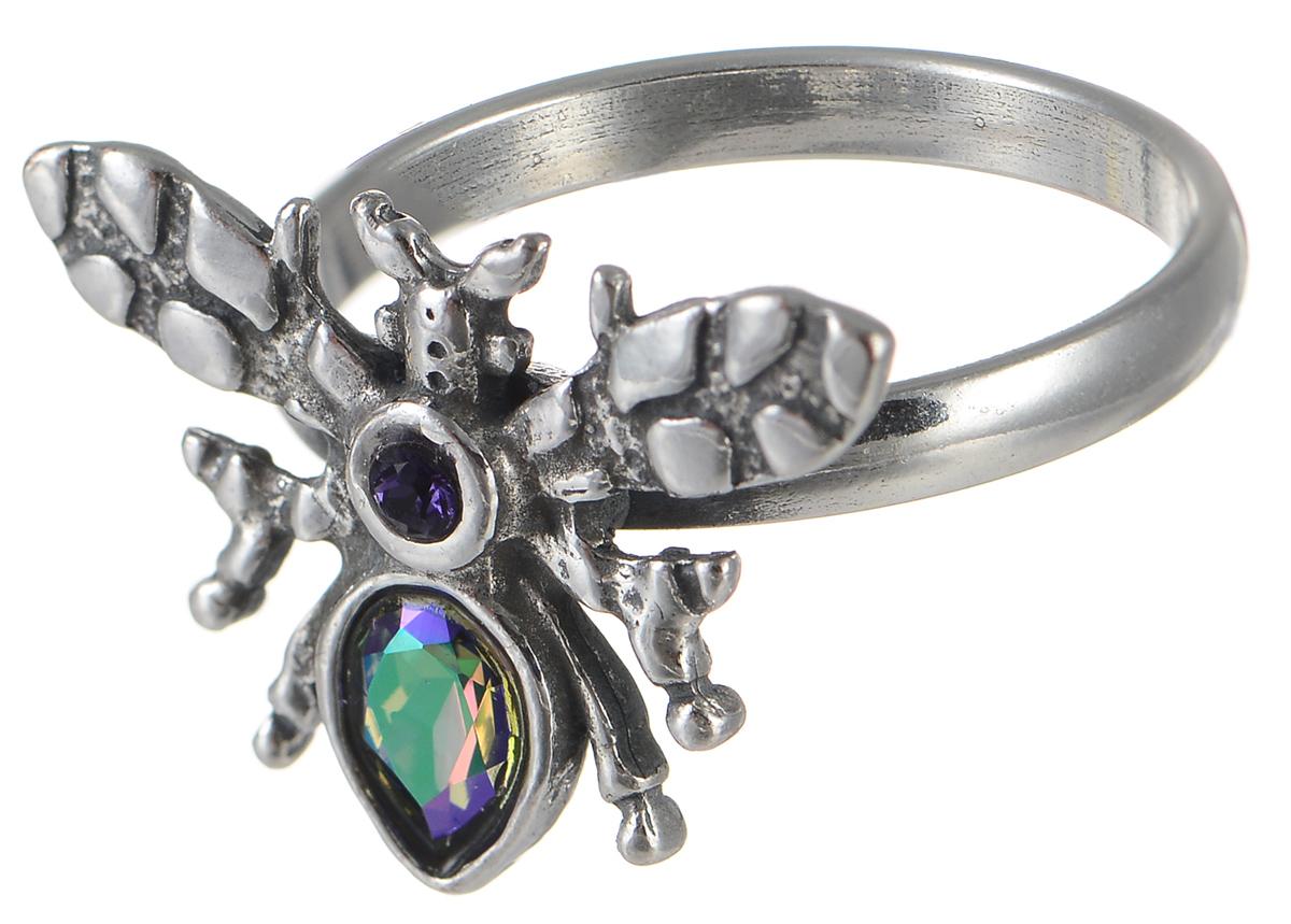 Кольцо Jenavi Мэй, цвет: серебряный, хамелеон. k3353053. Размер 19Коктейльное кольцоОригинальное кольцо Jenavi Мэй из коллекции Кассида, выполненное из ювелирного сплава с покрытием из черненого серебра, оформлено декоративным элементом в виде насекомого, который украшен стразами и кристаллом Swarovski.Красивое и необычное украшение блестяще подчеркнет ваш изысканный вкус и поможет внести разнообразие в привычный образ.