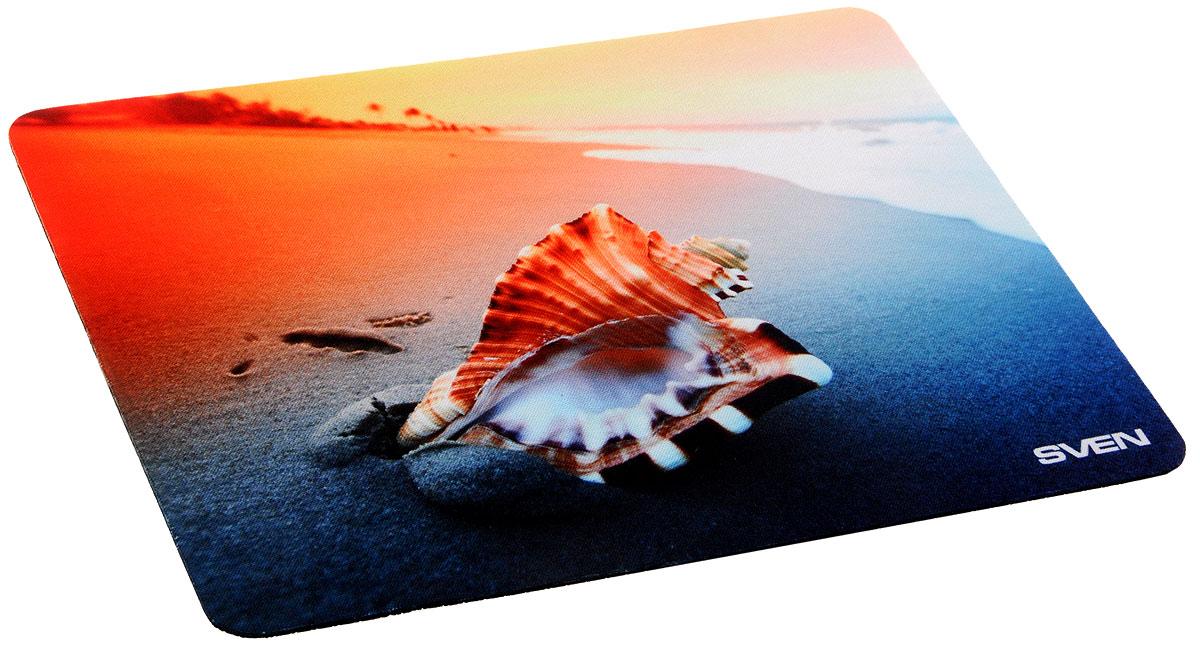 Sven SA, Orange Shell коврик для мышиSA-011147_ракушкаКоврик для мыши Sven SA изготовлен из 100% полиэстера и каучука -высокотехнологичных экологических материалов. Подходит как для оптической, так и для лазерной мыши. Гладкая поверхность со специальной текстурой повышает точность позиционирования мышки. Специальное нескользящее основание надежно фиксирует коврик на столе. Коврик выпускается с большим количеством различных изображений.