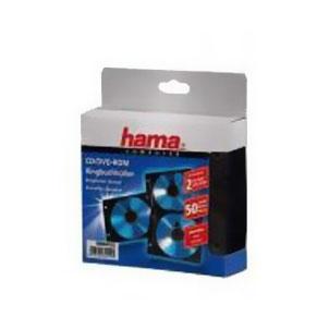 Конверты 2 CD/DVD Hama H-84102, Black (50 шт)