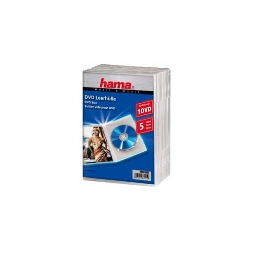 Коробка для DVD Hama H-83895 Jewel Case ( 5 шт)83895Hama H-83895 - коробка для DVD дисков, тип Jewel Case. В комплекте 5 коробок, каждая рассчитана на 1 диск.