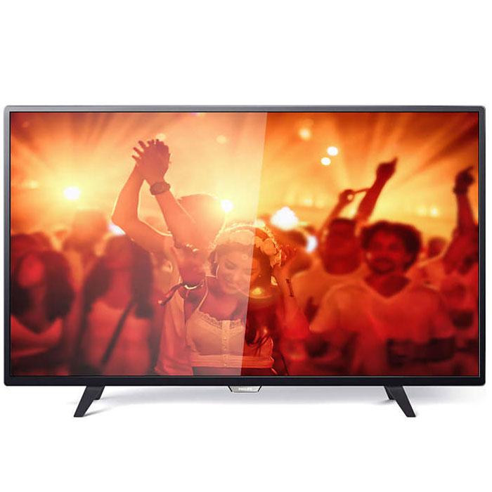 Philips 43PFT4001/60, Black телевизор43PFT4001/60Philips 43PFT4001/60 - сверхтонкий светодиодный Full HD LED-телевизор.Утонченные линии подчеркивают изящность дизайнаИзящный, современный, лаконичный дизайн. Неудивительно, что ультратонкий силуэт телевизора Philips притягивает к себе взгляд - это идеальное решение, которое прекрасно дополнит любой интерьер. USB для воспроизведения мультимедийного контентаДелитесь впечатлениями. Подключите USB-накопитель, цифровую камеру, MP3-плеер или другое мультимедийное устройство через USB-вход телевизора и смотрите фотографии, видео или слушайте музыку, используя удобного экранного обозревателя. Необычная, темная и невероятно надежная подставка. Прочная ультратонкая подставка Philips черного цвета подчеркивает элегантный дизайн телевизора. Несмотря на свой небольшой размер, она отличается непревзойденной устойчивостью.Технология Digital Crystal Clear, разработанная Philips, позволяет насладиться естественным изображением с любого источника. Смотрите любимые сериалы, фильмы, новостные передачи или соберитесь перед телевизором с друзьями - вас удивит превосходное изображение с оптимальной контрастностью, цветопередачей и четкостью.Picture Performance Index сочетает в себе технологию Philips для дисплеев и усовершенствованные техники обработки для улучшения качества каждого аспекта изображения: четкости, динамичных сцен, контрастности и цветопередачи. Независимо от источника вы сможете наслаждаться четким изображением с потрясающей детализацией, глубокими оттенками черного и яркими оттенками белого, а также насыщенными цветами и естественной цветопередачей.Использование одного кабеля HDMI, передающего как видео-, так и аудиосигнал с устройства на телевизор, решает проблему спутанных проводов. HDMI передает несжатые сигналы, обеспечивая самое высокое качество изображения, передаваемого на экран с источника. Благодаря Philips EasyLink вам потребуется лишь один пульт ДУ для выполнения большинства операций: управление телевизором, DVD,